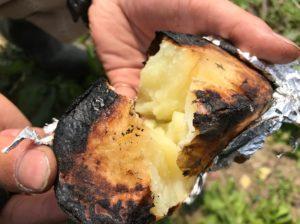 ジャガイモのアルミホイル焼き